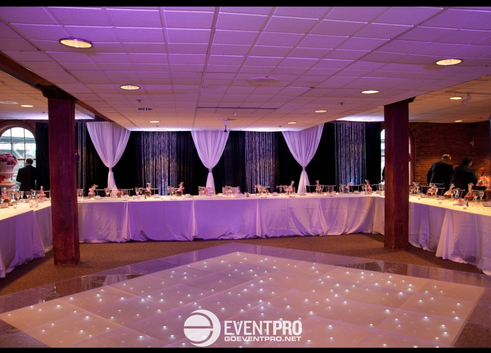 Event Pro Light Up Dance Floor And Drapery At Oriole Park Camden Yards Wedding Baltimore Maryland 3