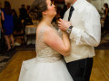 bride and groom slow dancing