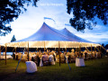 sail tent wedding setup