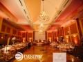 Uplighting for the ballroom perimeter. Photos by Dani Leigh Photography