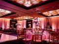 ballroom shot with uplighting and pinspots