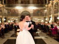 bride and groom slow dance at peabody library