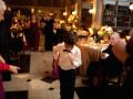 ringbearer dancing at wedding