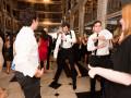 groomsmen dancing during wedding