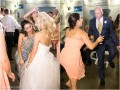 bride and guests dancing